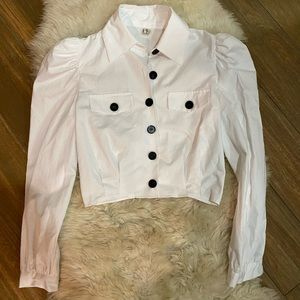 Cute white shirt with black buttons